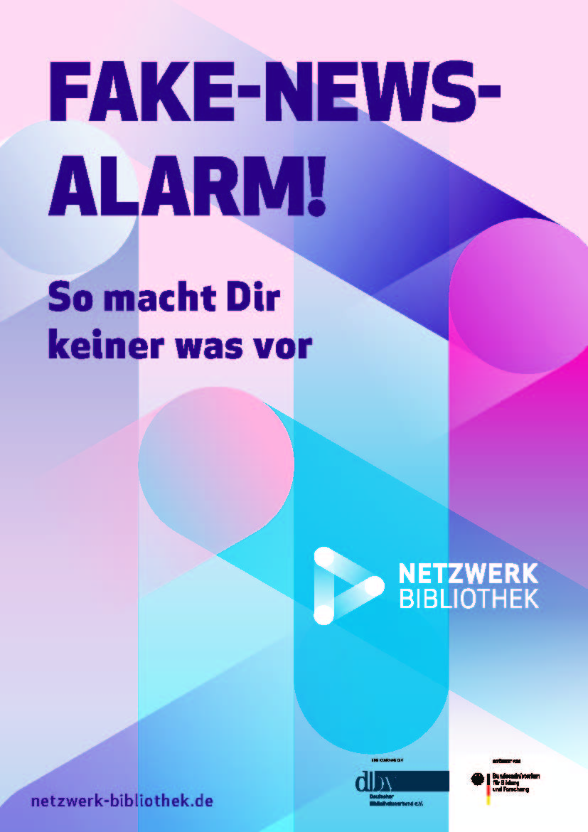 """Fake-News-Alarm"" – Vorderseite"
