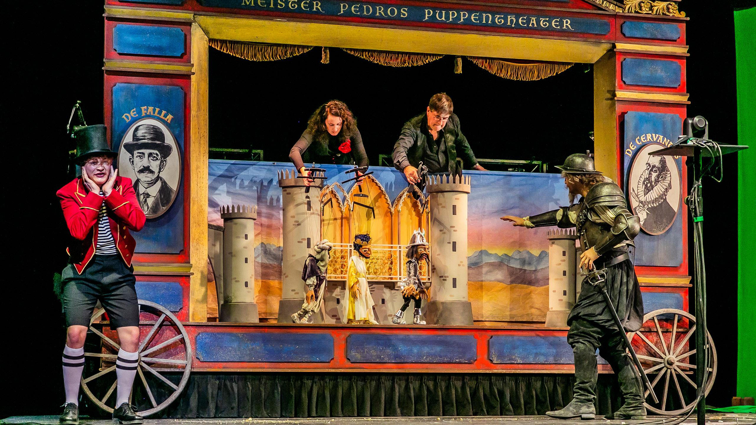 Anton Bachleitner (Puppenspieler), Anna Zamolska (Puppenspielerin), David Fischer (Junge), Richard Šveda (Don Quijote)