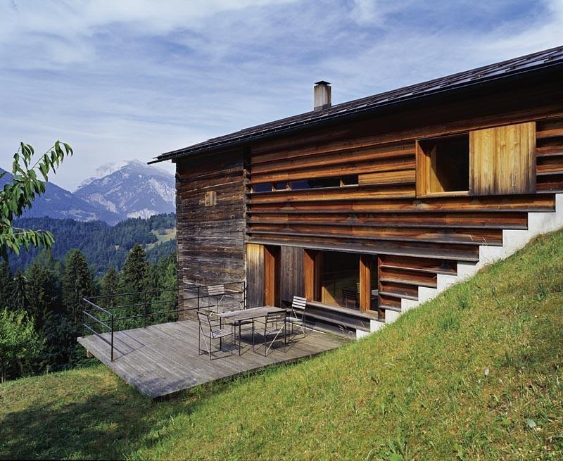 house z or atelier zumthor peter zumthor s home studio haldenstein switzerland 2002 2004. Black Bedroom Furniture Sets. Home Design Ideas