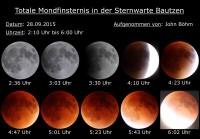 Die totale Verfinsterung des Mondes und die besonders günstige Marsposition