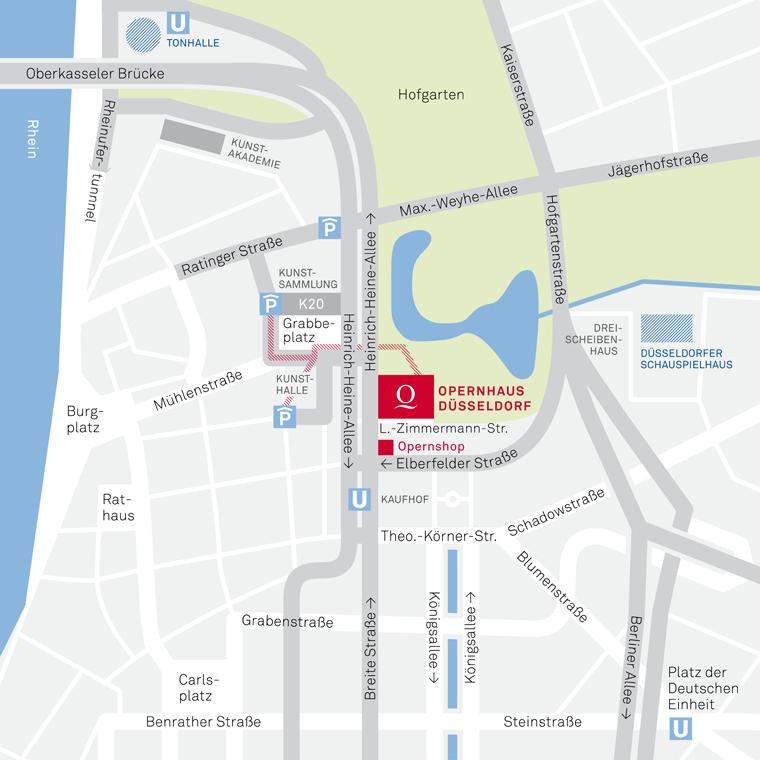 Anfahrt Deutsche Oper Am Rhein