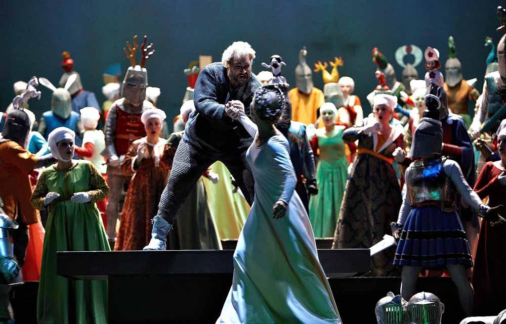 Nadja Michael als Venus/Elisabeth, Torsten Kerl als Tannhäuser, Chor der Deutschen Oper Berlin